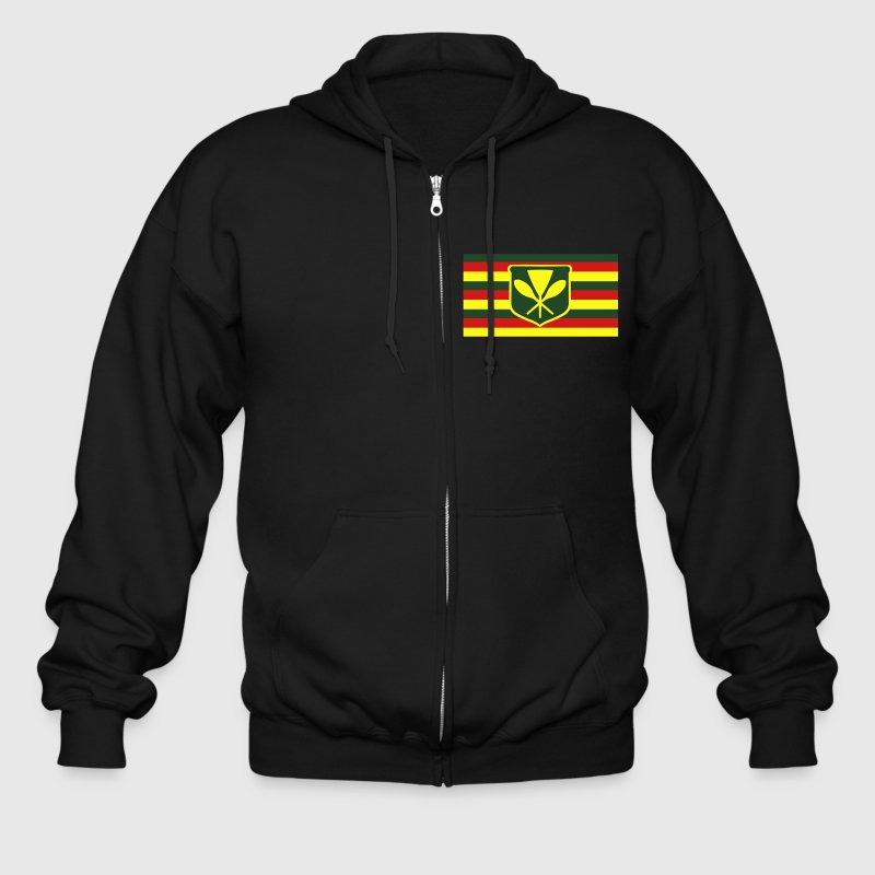 Kanaka Maoli - Native Hawaiian Flag Zip Hoodies/Jackets - Men's Zip Hoodie
