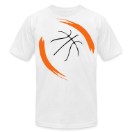 Basketball Cool Design T Shirts   Menu0027s T Shirt By American Apparel