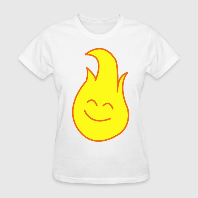 Fire / Flame Cartoon Design Women's T-Shirts - Women's T-Shirt