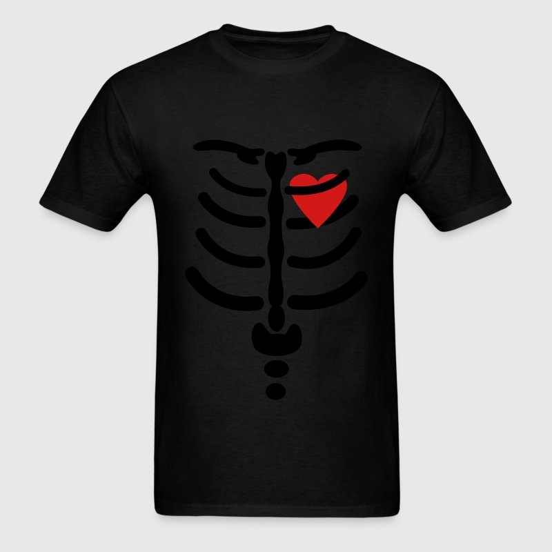 Skeleton / Rib / Heart Vector Design T-Shirt | Spreadshirt