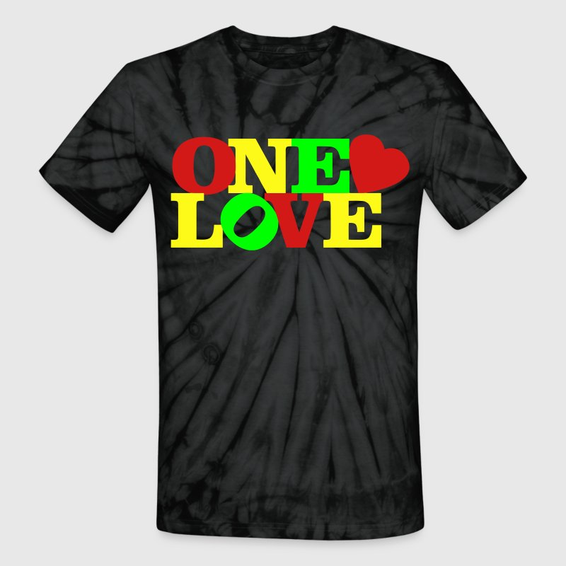 One Love T-Shirts - Unisex Tie Dye T-Shirt