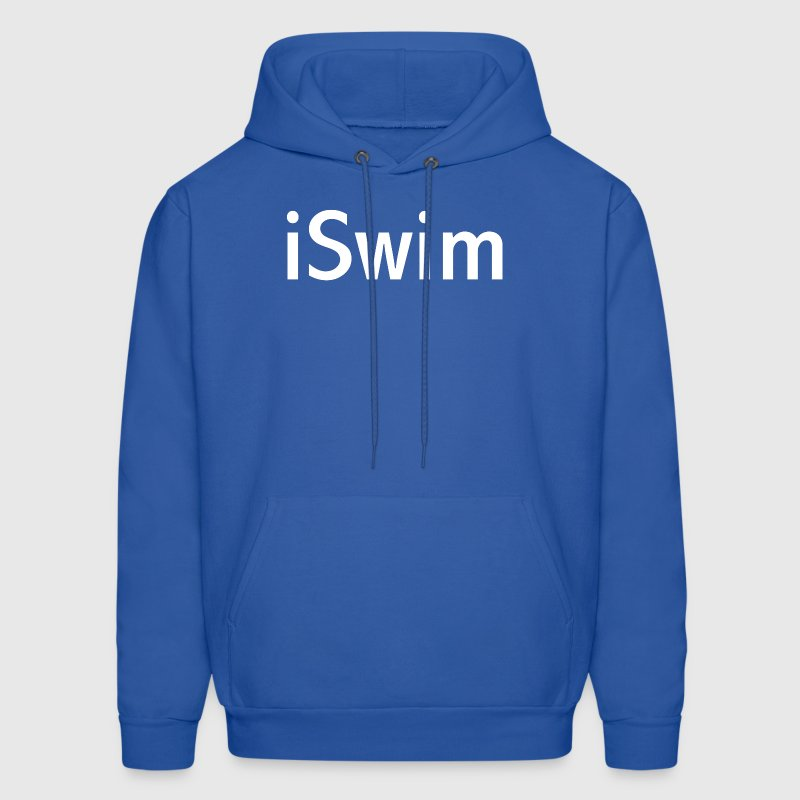 iSwim - in white, great design for colored shirts, shorts, bags and other items. Hoodies - Men's Hoodie