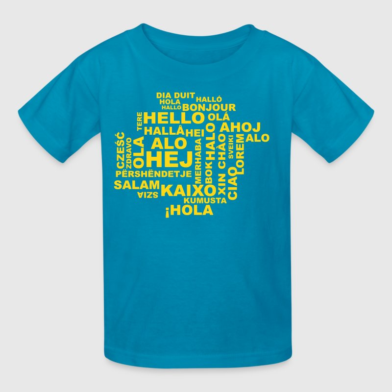 hello in 29 languages Kids' Shirts - Kids' T-Shirt
