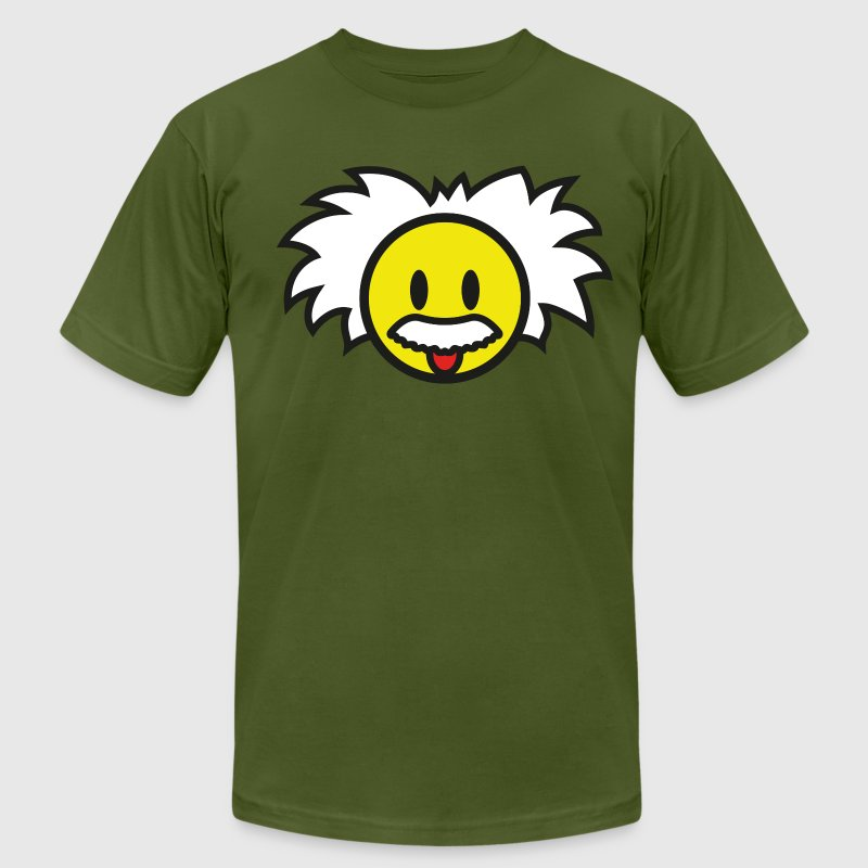 Smiley Einstein Icon (dd print) T-Shirts - Men's T-Shirt by American Apparel