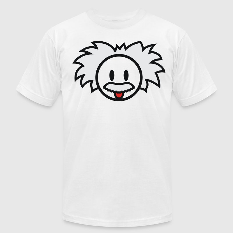 Smiley Einstein Icon 3c T-Shirts - Men's T-Shirt by American Apparel