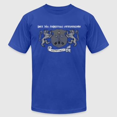 Pax via supernus armamenta (peace through superior firepower) - Men's T-Shirt by American Apparel