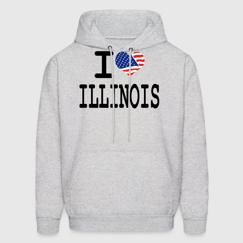 i love illinois Hoodies - Men's Hoodie