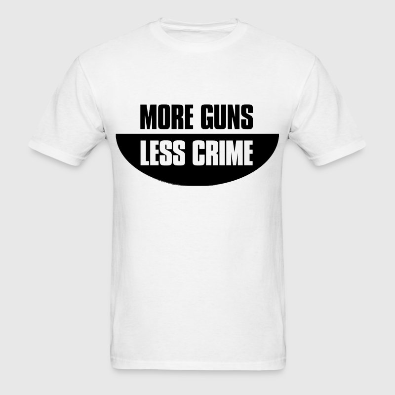 More guns less crime T-Shirts - Men's T-Shirt
