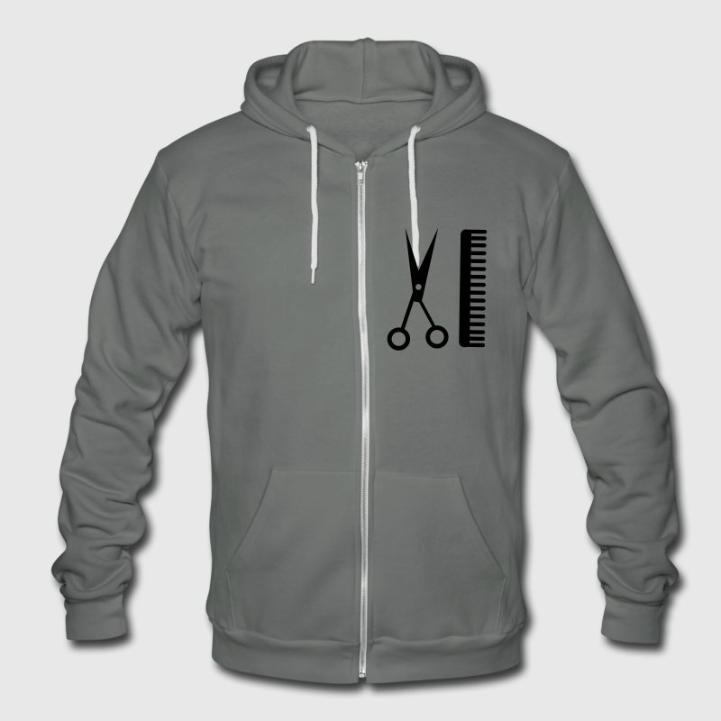 Hairstylist Zip Hoodies/Jackets - Unisex Fleece Zip Hoodie by American Apparel