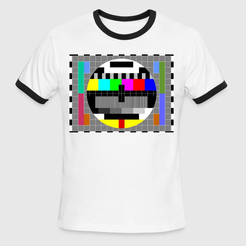 TV Test Pattern of Sheldon Cooper - Men's Ringer T-Shirt