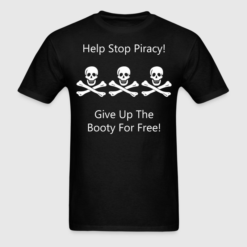 Christopher Condent Help Stop Piracy T-Shirts - Men's T-Shirt