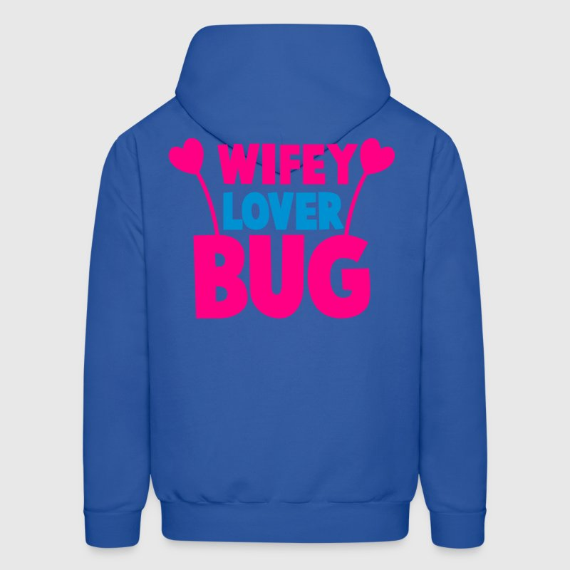 wifey wife lover love bug with cute antennae Hoodies - Men's Hoodie