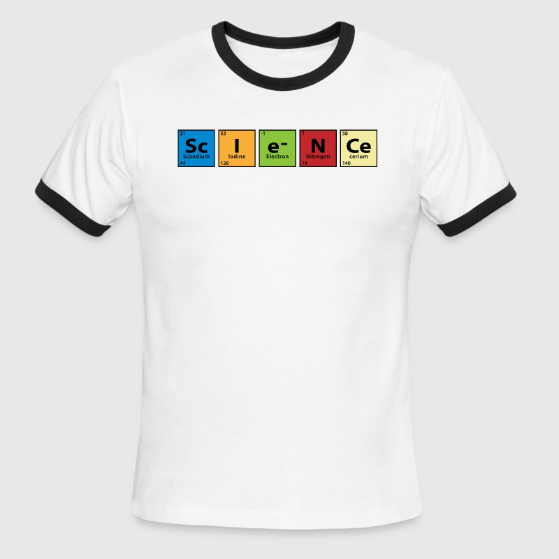 Periodic Table Science T-Shirts - Men's Ringer T-Shirt