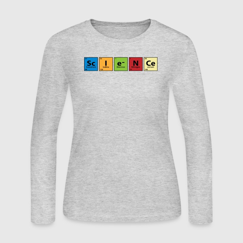 Periodic Table Science Long Sleeve Shirts - Women's Long Sleeve Jersey T-Shirt