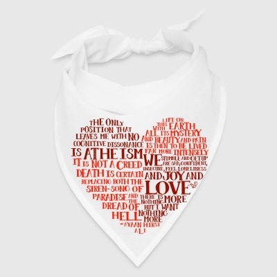 Ayaan Hirsi Ali quote-heart by Tai's Tees - Bandana