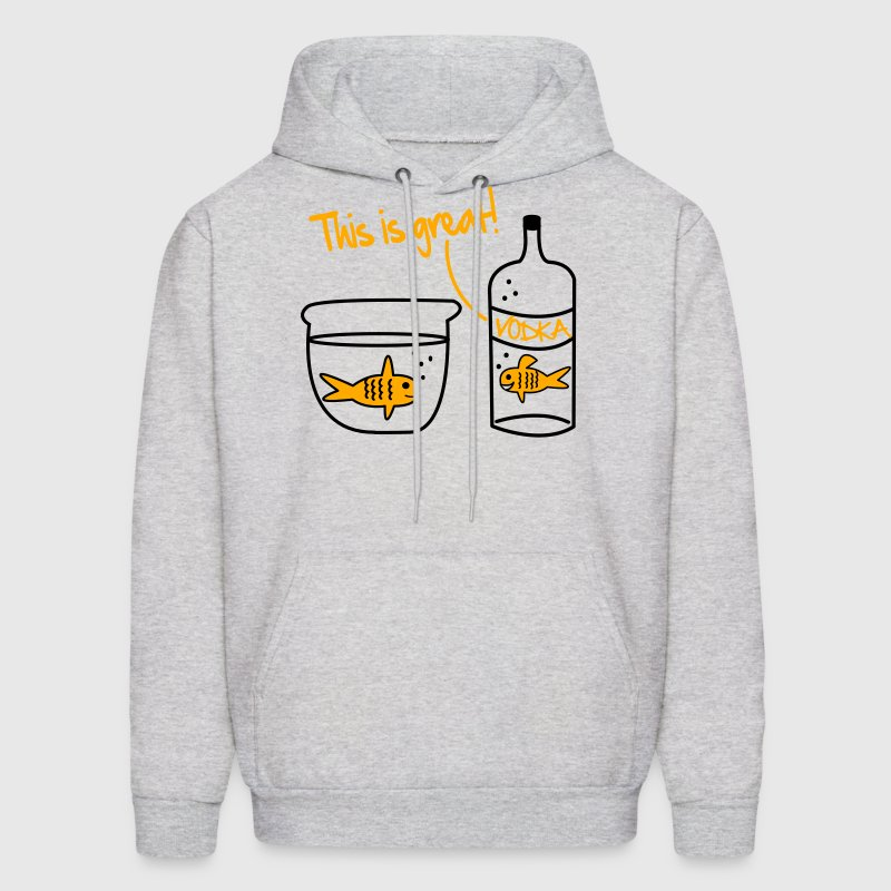 Goldfish Vodka Vector Design Hoodies - Men's Hoodie