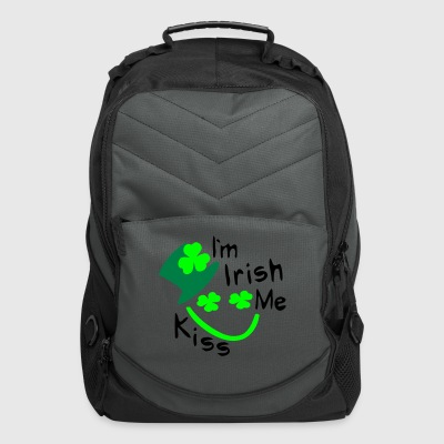 Kiss Me I'm Irish shamrock st.patrick's day Men's Standard Weight T-Shirt - Computer Backpack