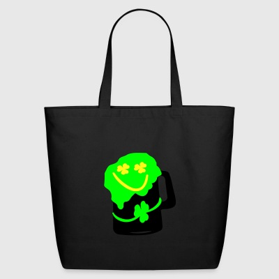 Green beer shamrock Men's Ringer T-Shirt by American Apparel - Eco-Friendly Cotton Tote