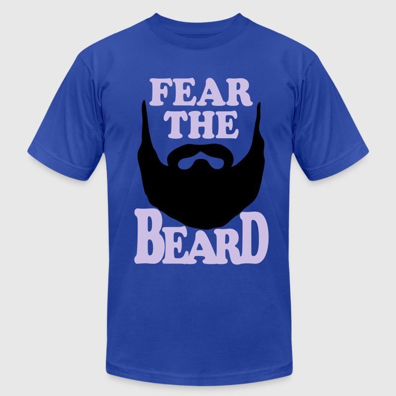 Fear the Beard Vector T-Shirt - Men's T-Shirt by American Apparel