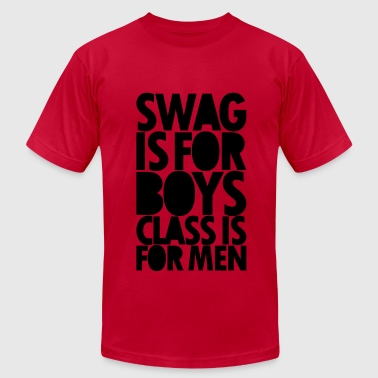 SWAG IS FOR BOYS Long Sleeve Shirts - Men's Fine Jersey T-Shirt