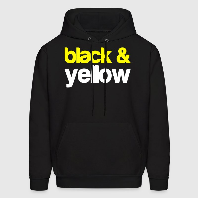 Black and Yellow Wiz Khalifa Design Hoodies - Men's Hoodie