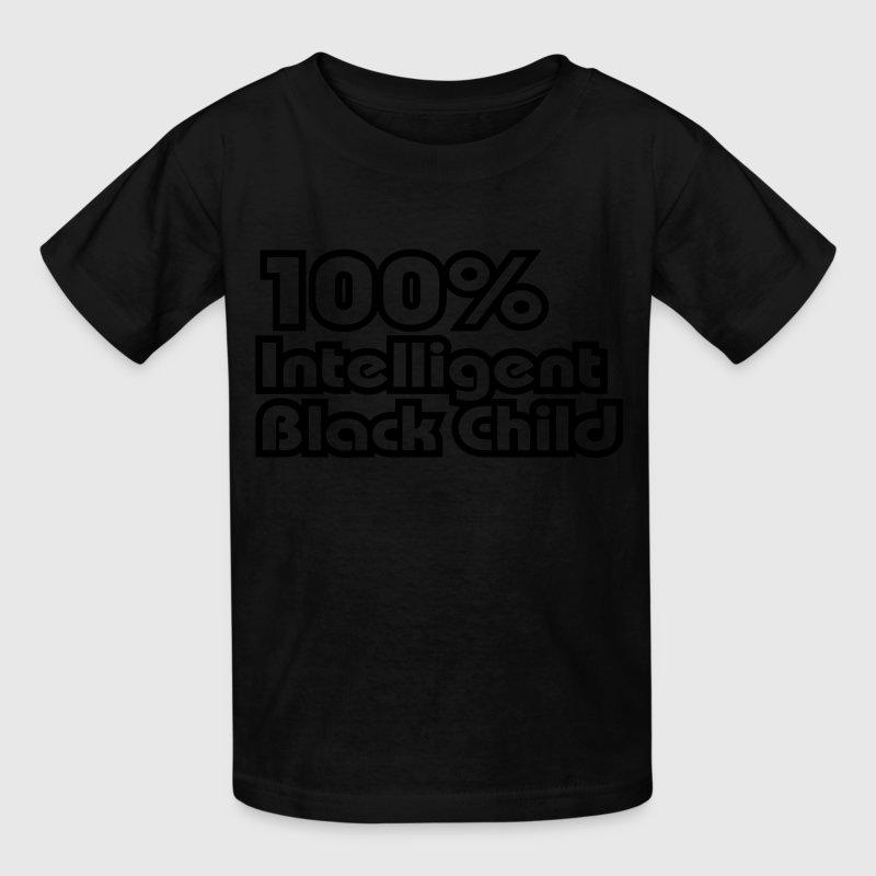 100% Intelligent Black Child / Glow in the Dark Ki - Kids' T-Shirt