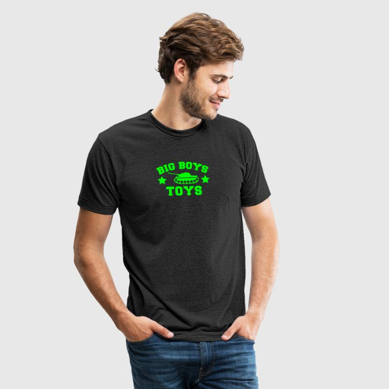 BIG BOYS TOYS with a tank and stars T-Shirts - Unisex Tri-Blend T-Shirt by American Apparel