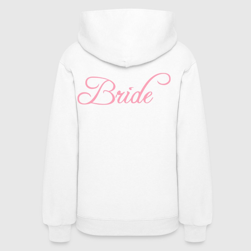 Fun Pink Bride Text Elegant Word Graphic Design for Bachelor Parties, Hen Party, Stag and Does, Bridal Party and Wedding Showers TShirts Hoodies - Women's Hoodie