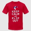 Keep Calm and Flip Out T-Shirts - Men's T-Shirt by American Apparel