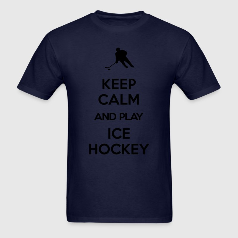 keep calm and play ice hockey T-Shirts - Men's T-Shirt