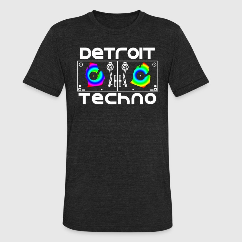 Detroit Turntables T-Shirts - Unisex Tri-Blend T-Shirt by American Apparel
