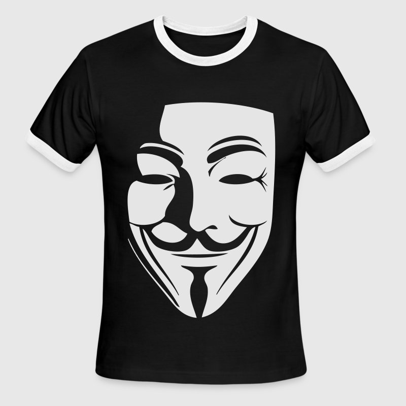 guy fawkes T-Shirts - Men's Ringer T-Shirt