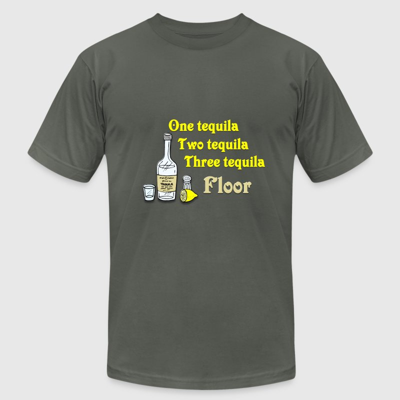 One tequila, Two tequila, Three Tequila, Flour T-Shirts - Men's Fine Jersey T-Shirt