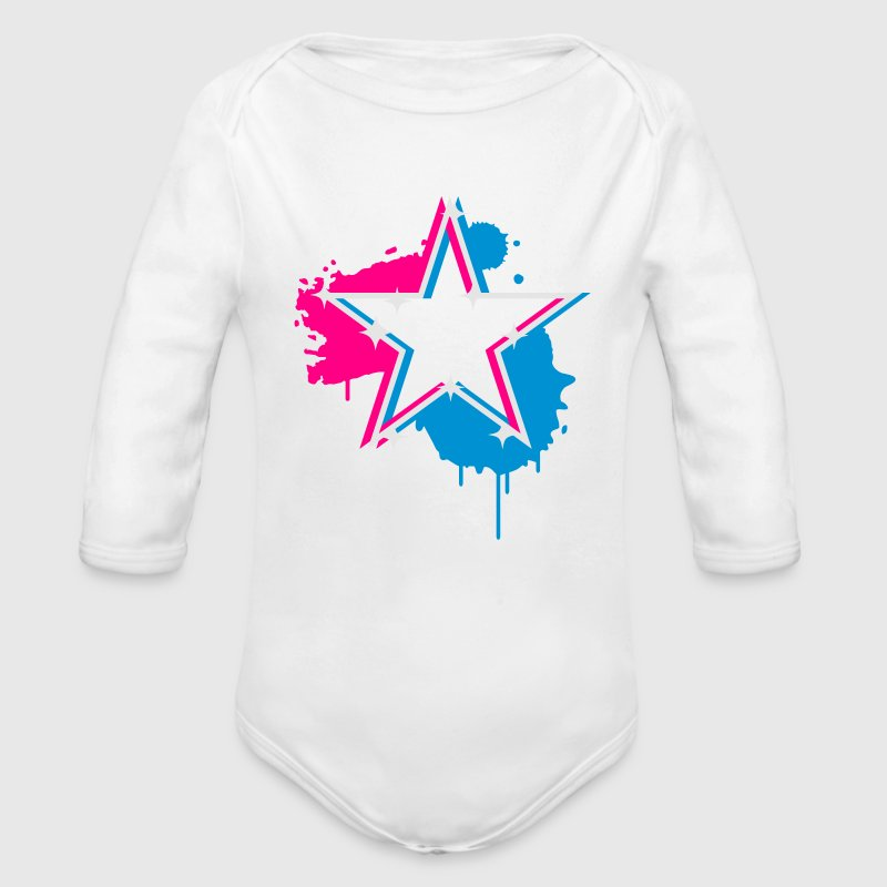 3D graffiti star design  Baby Bodysuits - Long Sleeve Baby Bodysuit