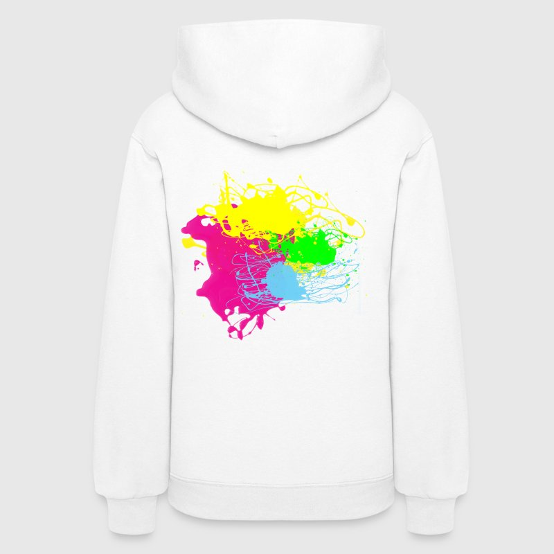 Multi Color Paint Splatter Graphic Design | Women and Teen Girl Graffiti Style Sweatshirt - Women's Hoodie