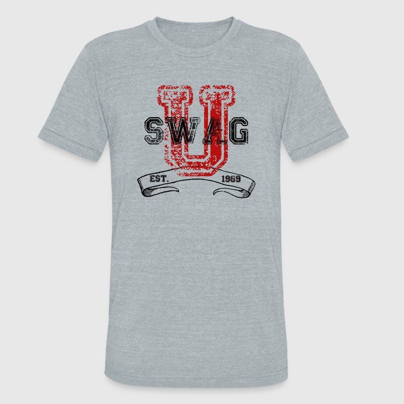 Swag University - Unisex Graphic Design College Font Graffiti Text Style  - Unisex Tri-Blend T-Shirt by American Apparel