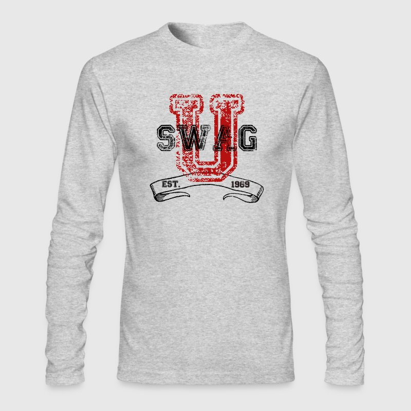 Swag University - Unisex Graphic Design College Font Graffiti Text Style  - Men's Long Sleeve T-Shirt by Next Level