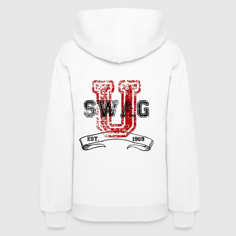 Swag University Vintage College Font Graphic Design - Women and Teen Girls Sweatshirt - Women's Hoodie