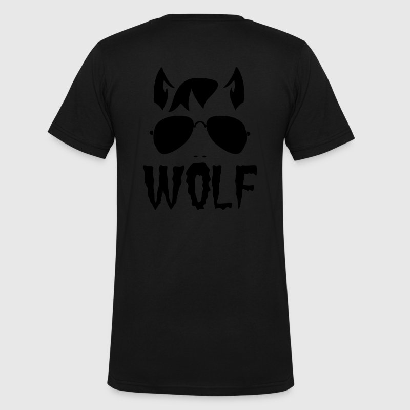 wolf face man with type and aviator sunglasses good halloween costume t shirts mens - Good Halloween Font