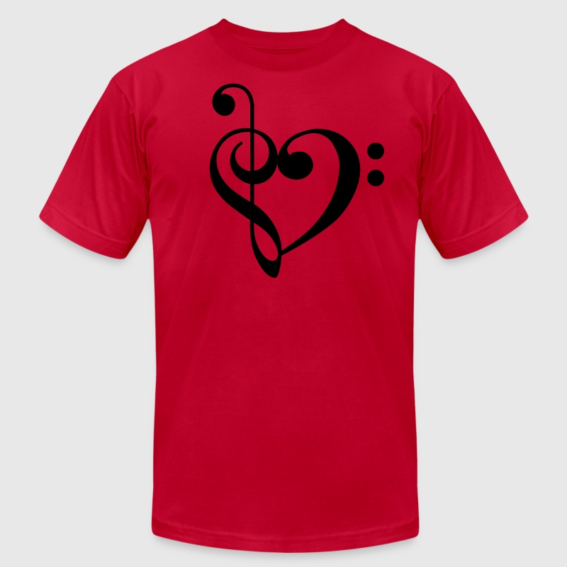 Sol-Fa Heart T-Shirts - Men's T-Shirt by American Apparel