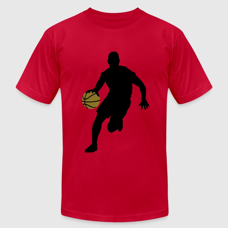 Basketball player T-Shirts - Men's T-Shirt by American Apparel