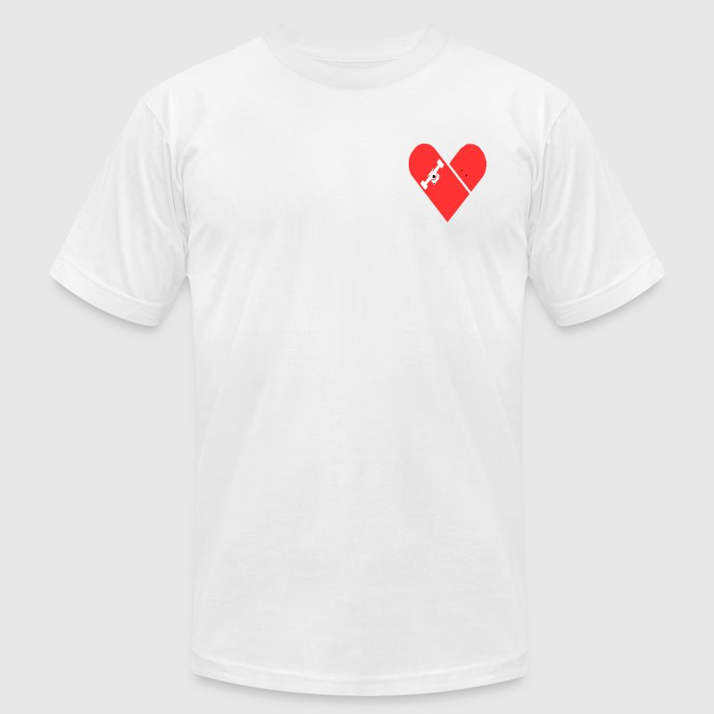 Skateboard heart - Men's T-Shirt by American Apparel