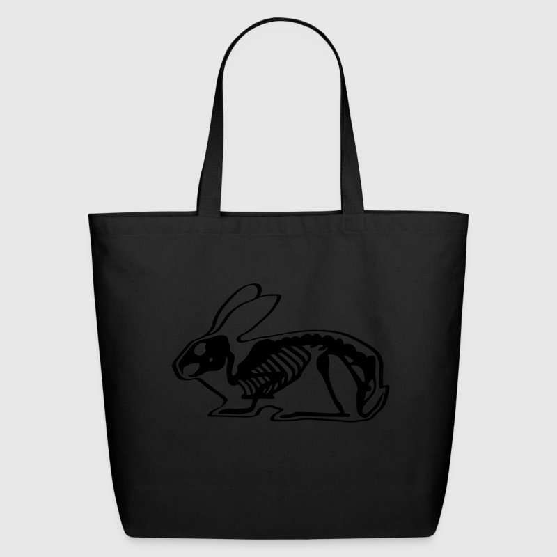Ray X x-ray rabbit cony hare bunny bunnies long ear skeleton carcass bones roentgen death jack rabbit Bags  - Eco-Friendly Cotton Tote