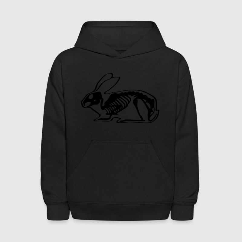 Ray X x-ray rabbit cony hare bunny bunnies long ear skeleton carcass bones roentgen death jack rabbit Sweatshirts - Kids' Hoodie