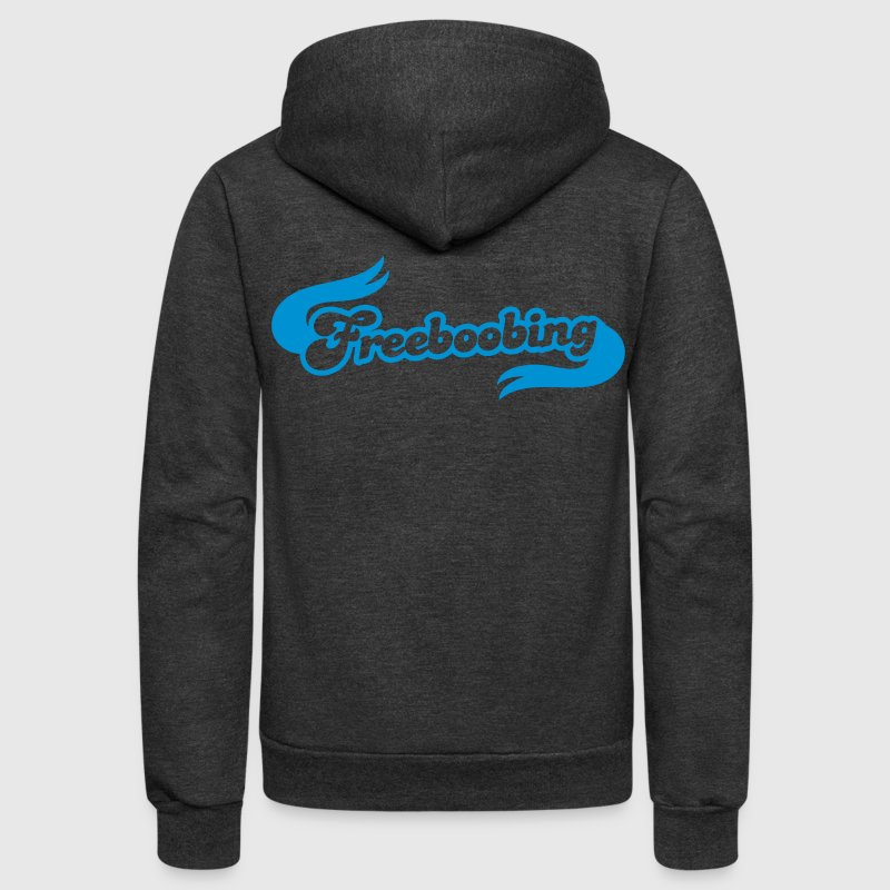 freeboobing (wearing no bras or underwear.. probably not safe for work) Zip Hoodies/Jackets - Unisex Fleece Zip Hoodie