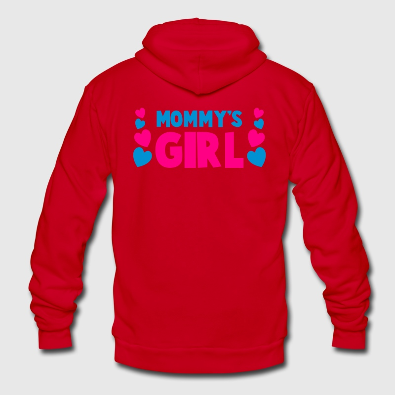 mommy's mom mother girl with cute little love hearts Zip Hoodies/Jackets - Unisex Fleece Zip Hoodie by American Apparel