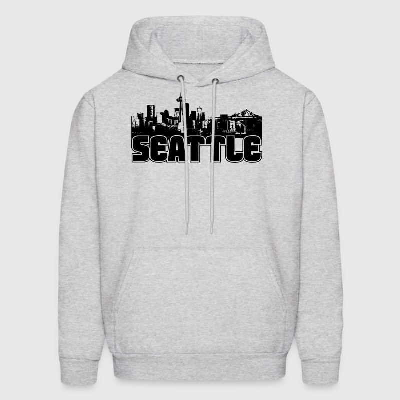 Seattle Skyline Hooded Sweatshirt - Men's Hoodie