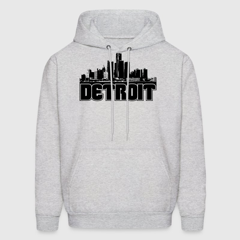 Detroit Skyline Hooded Sweatshirt - Men's Hoodie