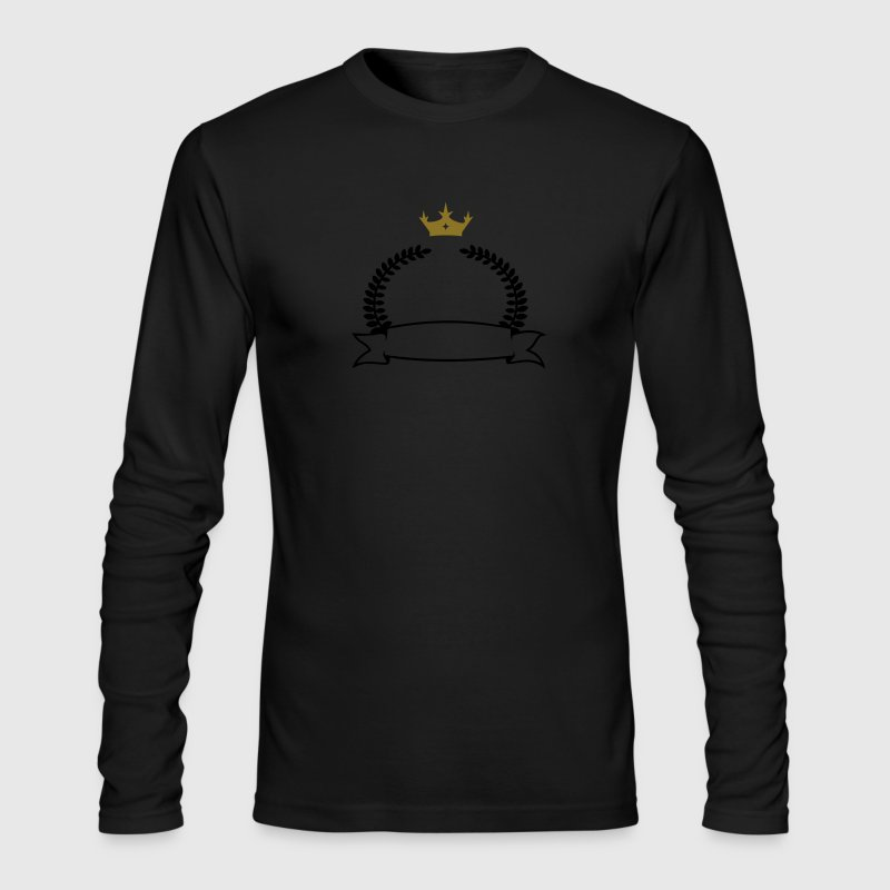 laurel wreath, banner & crown (2c) Long Sleeve Shirts - Men's Long Sleeve T-Shirt by Next Level