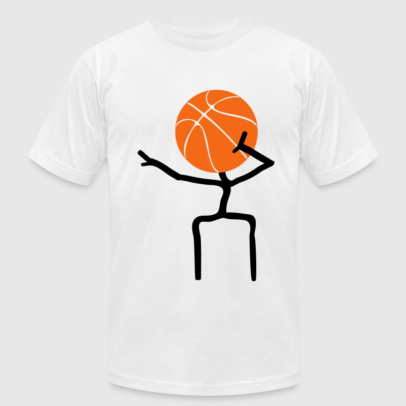 basket cool T-Shirts - Men's T-Shirt by American Apparel